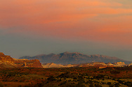 Sunset from outside of Capital Reef National Park in southern Utah.