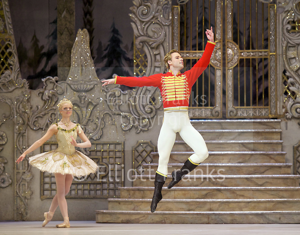 The Nutcracker<br /> <br /> Choreography by Peter Wright after Lev Ivanov<br /> Music by Tchaikovsky<br /> <br /> The Royal Ballet at the Royal Opera House, Covent Garden, London, Great Britain <br /> <br /> Pre-General Rehearsal <br /> <br /> 7 December 2015 <br /> <br /> <br /> <br /> Alexander Campbell as Hans-Peter / The Nutcracker <br /> <br /> <br /> <br /> <br /> Photograph by Elliott Franks <br /> Image licensed to Elliott Franks Photography Services