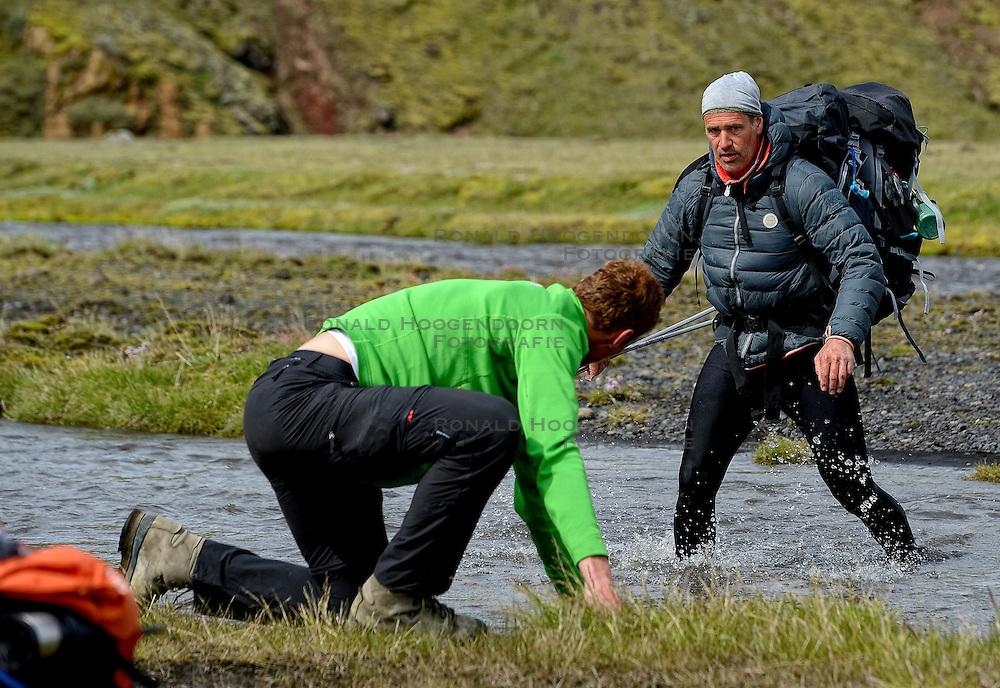 09-07-2014 ISL: Iceland Diabetes Challenge Dag 5, Emstrur<br /> Van Alftavatn naar Emstrur / Bs van de Goor, Manuel