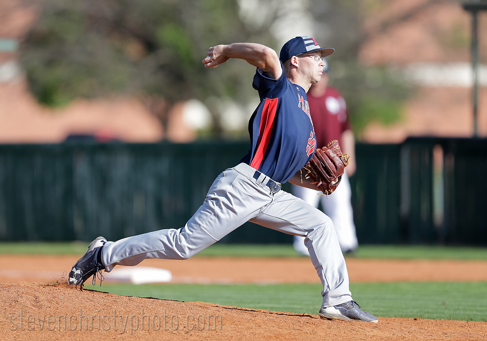 April 7, 2017: The Oklahoma Panhandle State University Aggies play against the Oklahoma Christian University Eagles at Dobson Field on the campus of Oklahoma Christian University.