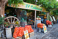 Fruit stand in downtown Loreto Mexico