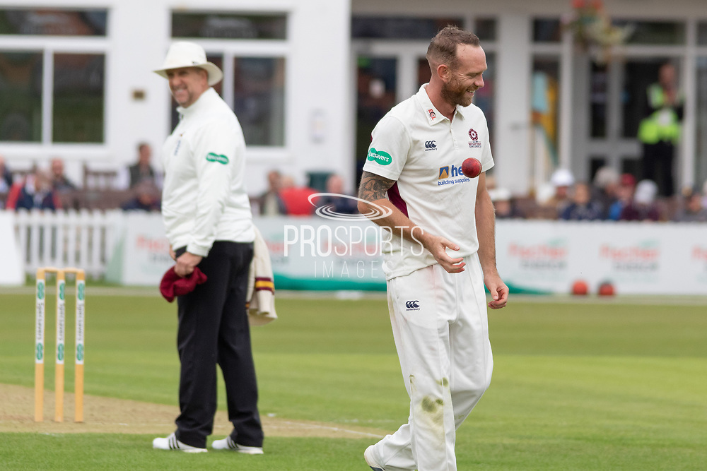 Luke Proctor during the Specsavers County Champ Div 2 match between Leicestershire County Cricket Club and Northamptonshire County Cricket Club at the Fischer County Ground, Grace Road, Leicester, United Kingdom on 10 September 2019.