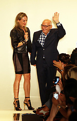 Designer Herve Leger at the end of his show at New York Fashion Week for Spring/ Summer 2013 , Saturday, 8th September 2012. Photo by: Stephen Lock / i-Images