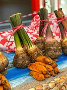 Kalo, Taro, Papeete Market, Tahiti, French Polynesia