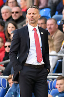 Football - 2018 / 2019 Euro Championship 2020 qualifying round. Wales v SLOVAKIA <br /> <br /> Wales manager Ryan Giggs on the touchline<br /> at Cardiff City Stadium<br /> <br /> COLORSPORT/WINSTON BYNORTH