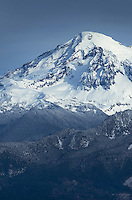 Mount Baker in winter, seen from Stewart Mountain, North Cascades Washington