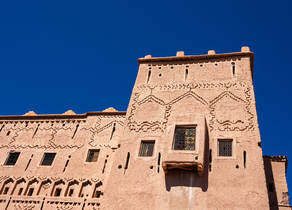 OURZAZATE, MOROCCO - CIRCA APRIL 2017:  View of Taourirt Kasbah in Ourzazate