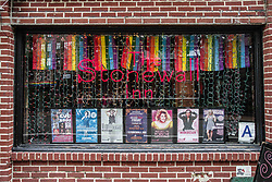 August 6, 2017 - New York City, New York, United States of America - The facade of the historic Stonewall Inn, where riots took place in June of 1969 due to alleged targeting for raids.  The subsequent protests in Greenwich Village are considered to be the first gay rights protests and where the pride movement began.  More recently, a February 2017 protest against the Muslim ban and against attacks against the LGBTQ community resulted in arrests of activists known as the ''Stonewall 4''.  Their court case took place on August 7th, 2017. (Credit Image: © Sachelle Babbar via ZUMA Wire)