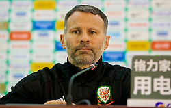 NANNING, CHINA - Thursday, March 22, 2018: Wales' new manager Ryan Giggs attends the post-match press conference after the opening match of the 2018 Gree China Cup International Football Championship between China and Wales at the Guangxi Sports Centre. (Pic by David Rawcliffe/Propaganda)