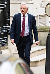 London, November 29 2017. Secretary of State for Exiting the European Union David Davis is seen in Downing Street leaving for Prime Minister's Questions in the House of Commons. © Paul Davey