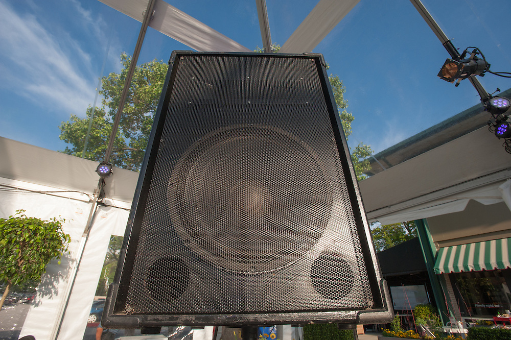 Loudspeaker at an event in Baltimore, Maryland, USA