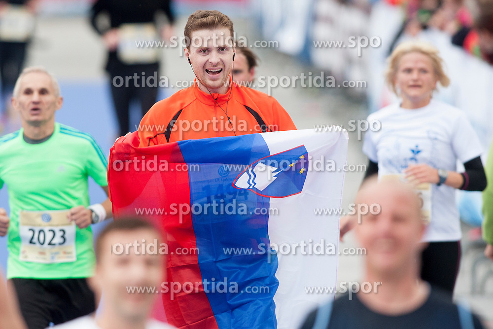 Aljosa Sega of Slovenia during 19th Ljubljana Marathon 2014 on October 26, 2014 in Ljubljana, Slovenia. Photo by Urban Urbanc / Sportida.com
