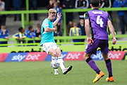 Forest Green Rovers Nathan McGinley(19) passes the ball forward during the EFL Sky Bet League 2 match between Forest Green Rovers and Port Vale at the New Lawn, Forest Green, United Kingdom on 8 September 2018.