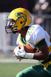 17 November 2012:  Deveon Dinwiddie during an NCAA Missouri Valley Football Conference football game between the North Dakota State Bison and the Illinois State Redbirds at Hancock Stadium in Normal IL