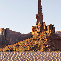 The Totem Pole in early morning light. Lower Monument Vally Navajo Tribal Park, Arizona