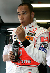 Melbourne. Australia - Friday, March 16, 2007: Lewis Hamilton (GBR, Vodafone McLaren Mercedes) at the opening Grand Prix of the Formula One World Championship in Australia.(Pic by Michael Kunkel/Propaganda/Hoch Zwei)