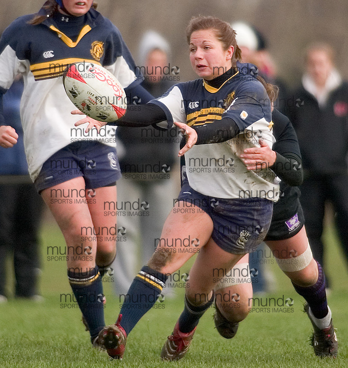 London, Ontario ---06/11/5--- The Lethbridge Pronghorns defeated the Western Mustangs in the bronze  medal game of the CIS Women's Rugby Championships in London, Ontario November 5, 2006..GEOFF ROBINS