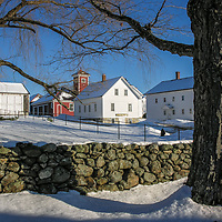 Winter at Canterbury Shaker Village, NH. <br />