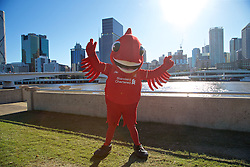 BRISBANE, AUSTRALIA - Friday, July 17, 2015: Mighty Red at South Bank in Brisbane on day five of the club's preseason tour. (Pic by David Rawcliffe/Propaganda)