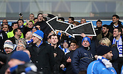 Brighton fans with arrows directing players to the goal during the Sky Bet Championship match between Blackburn Rovers and Brighton and Hove Albion at Ewood Park, Blackburn, England on 16 January 2016.