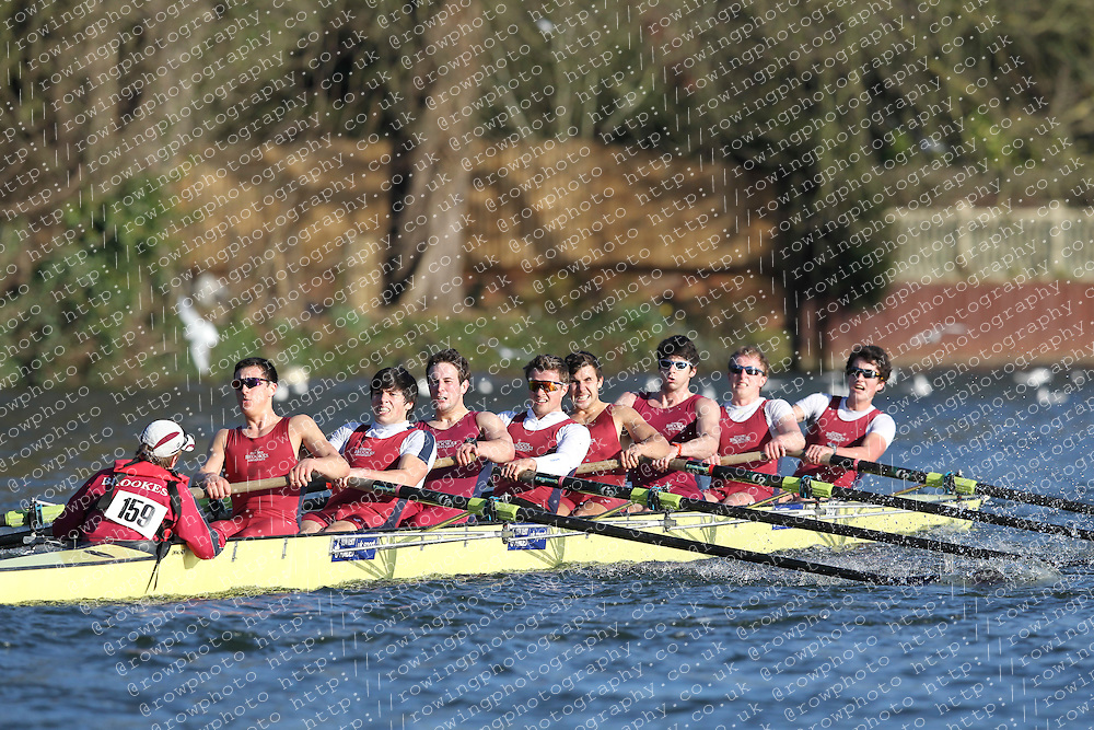2012.02.25 Reading University Head 2012. The River Thames. Division 2. Oxford Brookes University Boat Club IM2 8+