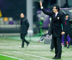Unai Emery Etxegoien, head coach of Sevilla during football match between NK Maribor and Sevilla FC (ESP) in 1st Leg of Round of 32 of UEFA Europa League 2014 on February 20, 2014 at Stadium Ljudski vrt, Maribor, Slovenia. Photo by Vid Ponikvar / Sportida