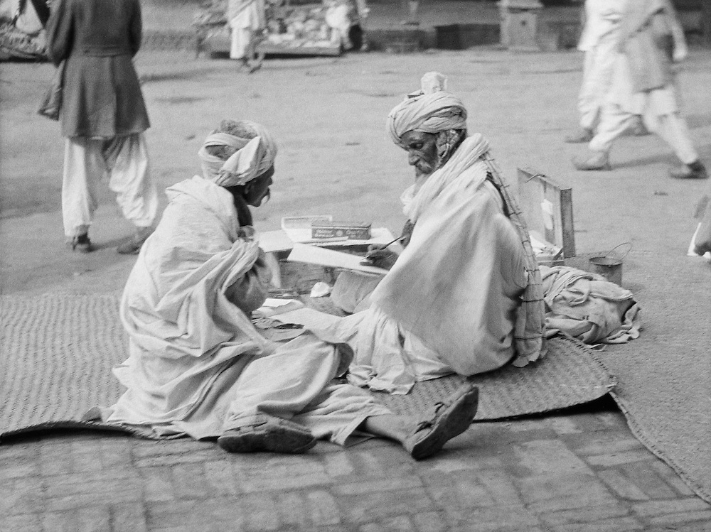 A Scribe in Peshawar, India, 1929