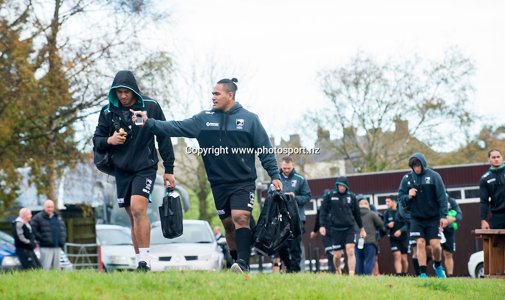 Picture by Allan McKenzie/SWpix.com - 10/11/2016 - Rugby League - 2016 Ladbrokes 4 Nations - New Zealand Kiwis Captains Run - Aspatria Rugby Club, Aspatria, England - Aspatria Rugby Club hosts the Kiwi Rugby League side. Copyright Image: SWPix / www.photosport.nz