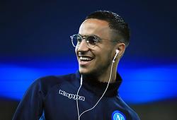 Napoli's Adam Ounas prior to the match