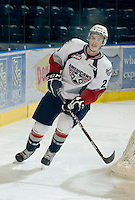 KELOWNA, CANADA, NOVEMBER 30: Mitch Topping #25 of the Tri City Americans skates on the ice as the Tri City Americans visit the Kelowna Rockets  on November 30, 2011 at Prospera Place in Kelowna, British Columbia, Canada (Photo by Marissa Baecker/Shoot the Breeze) *** Local Caption *** Mitch Topping;