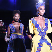 Designer Nedim Designs showcases its latest collection at the Africa Fashion Week London (AFWL) at Freemasons' Hall on 11 August 2018, London, UK.