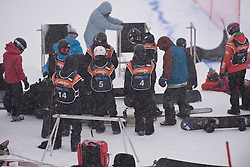MATAGI Fatu, DUCE Heidi Jo, ROUNDY Nicole, BUNSCHOTEN Lisa, Snowboarder Cross, 2015 IPC Snowboarding World Championships, La Molina, Spain