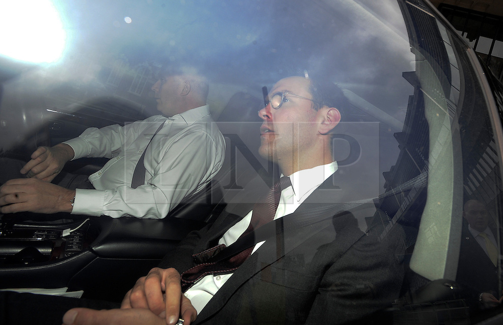 © Licensed to London News Pictures. 29/11/2011. London, UK. Non-executive chairman of British Sky Broadcasting JAMES MURDOCH leaving the Queen Elizabeth II conference centre in London today (29/11/2011) following the BSkyB annual general meeting. Photo credit : Ben Cawthra/LNP