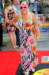 Bula Quo UK film premiere.  <br /> Vanessa Feltz attends premiere of Status Quo action film featuring 12 of the rock band's classic tracks. Directed by former stunt co-ordinator Stuart St Paul, starring Jon Lovitz, Craig Fairbrass, Laura Aikman and the band members themselves. Released July 5. Odeon West End, London, United Kingdom.<br /> Monday, 1st July 2013<br /> Picture by Chris Joseph / i-Images
