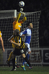 Southend United's Paul Smith clears the ball - Photo mandatory by-line: Dougie Allward/JMP - Mobile: 07966 386802 21/03/2014 - SPORT - FOOTBALL - Bristol - Memorial Stadium - Bristol Rovers v Southend United - Sky Bet League Two