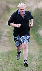 © Licensed to London News Pictures. 02/10/2018. Thame, UK. Boris Johnson run near his Oxfordshire home. The former foreign secretary is due to speak at a fringe event at the Conservative Party Conference later . Photo credit: Peter Macdiarmid/LNP