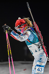 February 12, 2018 - Pyeongchang, Gangwon, South Korea - Eva Puskarcikova of Czech Republic competing at Women's 10km Pursuit, Biathlon, at olympics at Alpensia biathlon stadium, Pyeongchang, South Korea. on February 12, 2018. (Credit Image: © Ulrik Pedersen/NurPhoto via ZUMA Press)