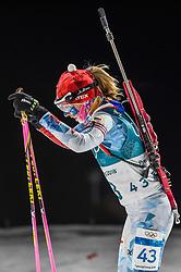 February 12, 2018 - Pyeongchang, Gangwon, South Korea - Eva Puskarcikova ofCzech Republic competing at Women's 10km Pursuit, Biathlon, at olympics at Alpensia biathlon stadium, Pyeongchang, South Korea. on February 12, 2018. (Credit Image: © Ulrik Pedersen/NurPhoto via ZUMA Press)