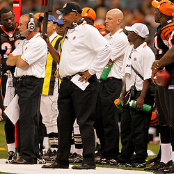 2009 August 14: Cincinnati Bengals head coach Marvin Lewis on the field during 17-7 win by the New Orleans Saints over the Cincinnati Bengals in their preseason opener at the Louisiana Superdome in New Orleans, Louisiana.