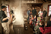 Maple syrup making demonstration at the Ipswich River Wildlife Refuge, Topsfield, MA.
