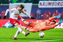 LEIPZIG, Dec. 17, 2018  Timo Werner (L) of Leipzig shoots during the Bundesliga match between RB Leipzig and FSV Mainz 05 in Leipzig, Germany, Dec. 16, 2018. Leipzig won 4-1. (Credit Image: © Kevin Voigt/Xinhua via ZUMA Wire)