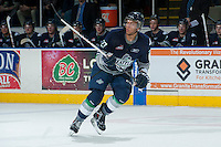 KELOWNA, CANADA -FEBRUARY 10: Evan Wardley #27 of the Seattle Thunderbirds skates against the Kelowna Rockets on February 10, 2014 at Prospera Place in Kelowna, British Columbia, Canada.   (Photo by Marissa Baecker/Getty Images)  *** Local Caption *** Evan Wardley;