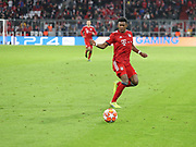 David Alaba during the Champions League round of 16, leg 2 of 2 match between Bayern Munich and Liverpool at the Allianz Arena stadium, Munich, Germany on 13 March 2019.