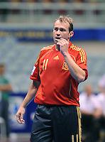 Fussball  International  FIFA  FUTSAL WM 2008   01.10.2008 Vorrunde Gruppe D Spain - Iran Spanien- Iran MARCELO (ESP) ist ratlos