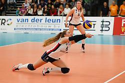 20180110 NED: CEV CUP Sliedrecht Sport - Beziers Angels VB: Sliedrecht<br />Fleur Savelkoel (6) of Sliedrecht Sport<br />&copy;2018-FotoHoogendoorn.nl / Pim Waslander