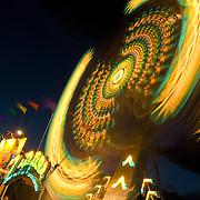Fair ride at night.