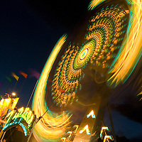 Fair ride at night.