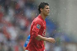 WIGAN, ENGLAND - Sunday, May 11, 2008: Manchester United's Cristiano Ronaldo during the final Premiership match of the season against Wigan Athletic at the JJB Stadium. (Photo by David Rawcliffe/Propaganda)