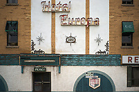 The now decrepit Hotel Europa in the old downtown area of Niagara Falls, Ontario Canada.