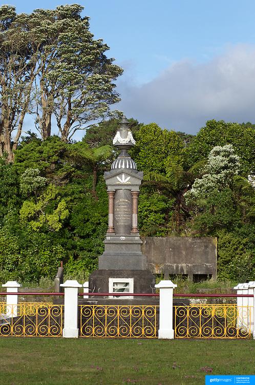 Te Whiti's grave at Parihaka Pa,  Parihaka Road South of Pungarehu. Te Whiti  was a Maori spiritual leader and founder of the village of Parihaka, in New Zealand's Taranaki region New Zealand,, 23rd December 2010.  Photo Tim Clayton.